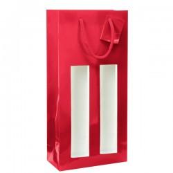Sac rouge 2B avec fenêtre