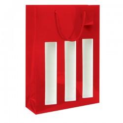 Sac rouge 3B avec fenêtre