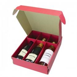 Coffret pour 3 bouteilles garance rouge